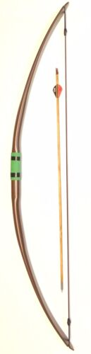 """Archery Bow, """"The Stinging Turtle"""" 51in-30+lb Long Bow, Soft Handle FREE SHIPPIN"""