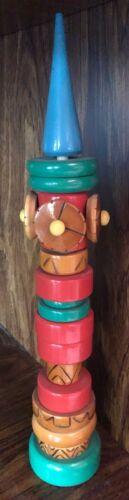 Vtg Ambassador Kremlin/Clock Tower Wood Toy Russian FolkArt Souvenir Puzzle USSR