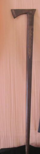 Vintage~Hand Carved Southwestern Look~Wood Cane~Tomahawk Handle ~Ax Head~