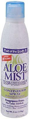 Fruit of the Earth Aloe Mist 100% Gel Continuous Spray 6 ...