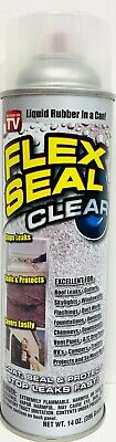 Flex Seal Clear Fscl20 Spray Rubber Sealant Coating 14-oz Water Resistant New