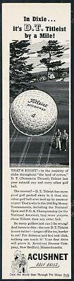 1950 Titleist golf balls ball Dixie golf course art Acushnet vintage print ad