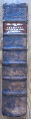 Incunable Herolt Sermones discipuli de tempore et sanctis Folio - 1490