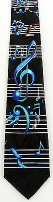 NEW! Treble Clef, Bass Clef, Music Notes Band Choir Novelty Necktie  347-K