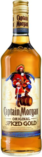 Captain Morgan spiced Gold 1,0 l | Rum mit Gewürzen | Spirituosen | Schnaps