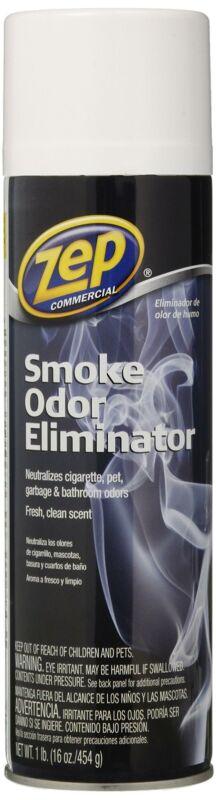Zep Commercial ZUSOE16 Smoke Odor Eliminator, 16 oz, Spray, Fresh Scent, Can