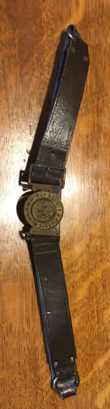 Scarce 20th C., Boy Scouts Of America, Belt with two piece Brass Buckle