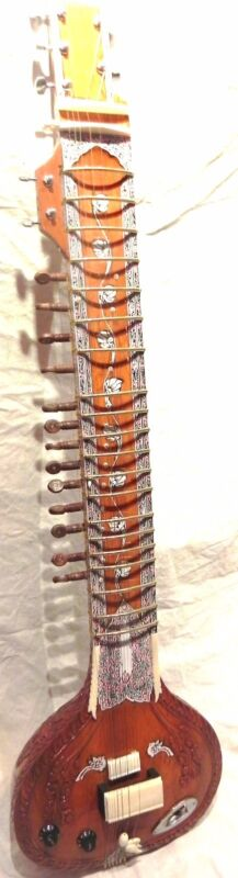 ELECTRIC SITAR SHRI RAVI SHANKAR STYLE DESIGNER TUN WOOD FREE STRING & MIZRAB