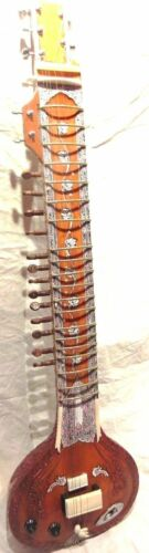 ELECTRIC SITAR SHRI RAVI SHANKAR STYLE DESIGNER TUN WOOD STRING & MIZRAB + BAG