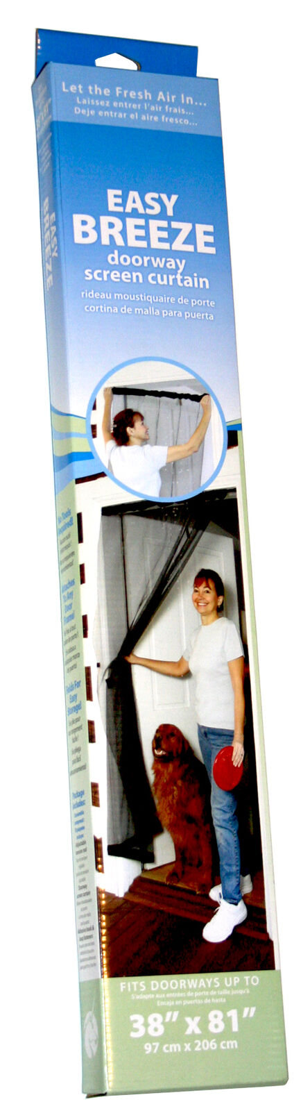 Adfors Screen Curtain 38 X 81 Charcoal 1 Ebay