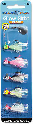 Spin Kit - Blue Fox Glow Skirt Spin Kit 1/16 oz. - Bass, Trout, Crappie, & Panfish Lure