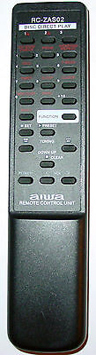 Aiwa Tabletop Shelf Stereo Remote Control Rc-zas02 Cxn-a115 Cx-na222 Cx-naj10