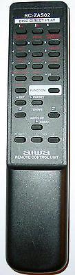 Aiwa Tabletop Shelf Stereo Remote Control Rc-zas02 Cxn-a115 Cx-na222 Cx-naj10