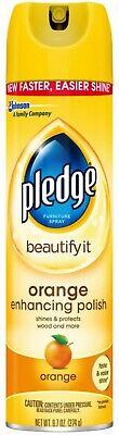 Pledge Orange Clean Furniture Spray 9.70 oz