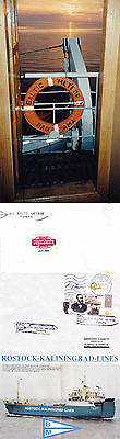 PANAMA FERRY SHIP MV BALTIC METEOR A SHIPS CACHED COVER LARGE PICTURE & SM PHOTO