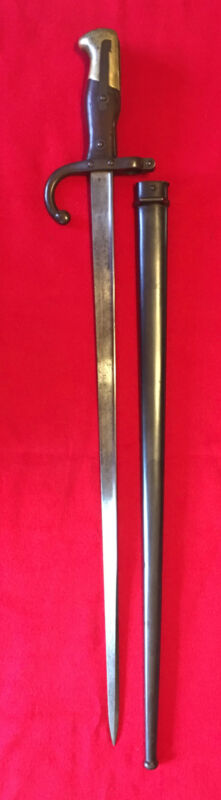 Fine 1878 Gras Bayonet And Scabbard, Saint Etienne