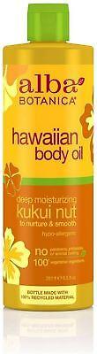 Alba Botanica Hawaiian Body Oil, Kukui Nut 8.50 (Alba Organics Hawaiian Body)