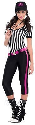 Adult Sexy Referee Costume Instant Replay Outfit Ladies Sports Fancy Dress 8-10 - Referee Halloween Outfits