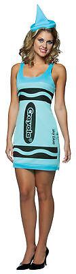 Crayola Tank Himmelblau Erwachsene Damen Kostüm Tunika & - Himmel Kostüme