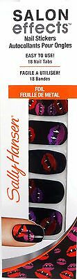 Sally Hansen Salon Effects Nail Stickers Halloween Foil Lips~ #850 Kiss My - Sally Hansen Halloween