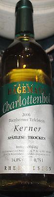 2 x Kerner Spätlese...Weißwein Trocken 2006 ...Weingut Hagemann..Direktvertrieb