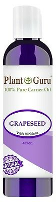 Grapeseed Oil 4 oz. Cold Pressed 100% Pure Organic Grape Seed For Skin Face Hair