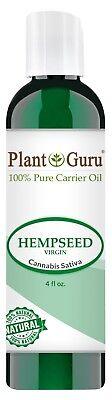 Hemp Seed Oil 4 oz. Cold Pressed 100% Pure Unrefined Natural