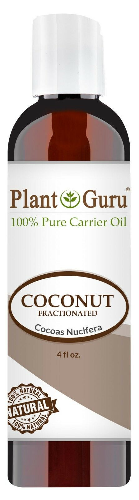 Fractionated Coconut Oil 4 oz 100% Pure MCT Natural Carrier