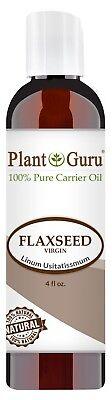 Flaxseed Oil 4 oz. Cold Pressed 100% Pure Organic Flax Seed Linseed (Flax Oil Liquid)