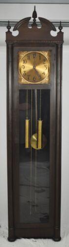 Early Colonial Mfg Company Mahogany Grandfather Clock made Zeeland Michigan Rare