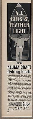 1962 Seasoned Ad Aluma Craft Fishing Boats Hupp Corp Minneapolis,MN