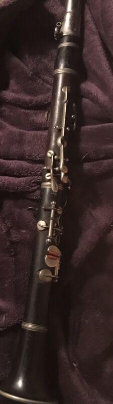 Eb Clarinet Wooden Antique Rare