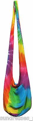 Tie Dye Bags (Rainbow Tie Dye Beach Bag Crossbody Multi Color Hippie Boho NEW Summer Casual)