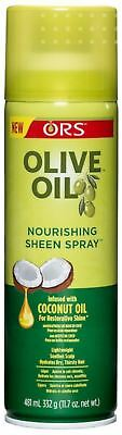 ORS Olive Oil Nourishing Sheen Spray infused with Coconut Oil 11.7 oz (4 pack) ()