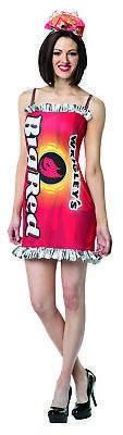 WOMENS WRIGLEY'S BIG RED GUM SNACK COSTUME DRESS GC3870