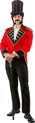 Mens Deluxe Showman Circus Ringmaster Jacket Film Fancy Dress Costume Tailcoat (Deluxe Ringmaster Costume)