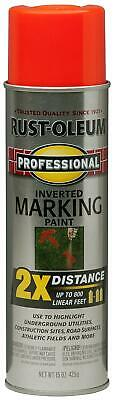 Rust-Oleum 266590 Professional 2X Distance Inverted Marking Spray Paint, 15 oz, Inverted Marking Spray Paint