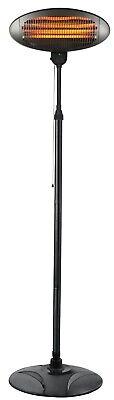 Elektro Infrarot Heizstrahler 2000 W mit 3 Heizstufen und Stativ, IPX4, 230 V