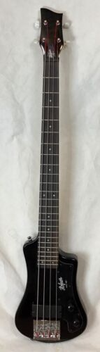 Hofner CT series shorty travel bass guitar Black
