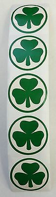 100 St Patrick's Day Shamrock Stickers Teacher Supply Party Favors Irish Green (Saints Party Supplies)