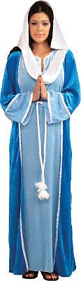 penspiel Weihnachten Religiös Kostüm Damen Dunkelblau Samt (Erwachsene Mary Kostüm)