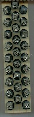 Young Brothers Steel Hand Stamps Reversed Heavy Duty 14 Letters Steel Stamps