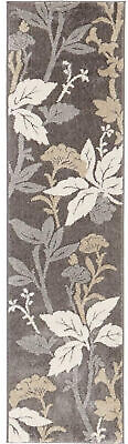 Home Decorators Collection Blooming Flowers Gray 2 Ft. X 7 F
