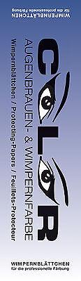 COLOR  Wimpernblättchen Friseur 96 Stück für Augenbrauenfarbe Wimpernfarbe