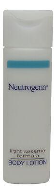 Neutrogena Light Sesame Formula Body Lotion lot of 10 ea 0.8oz Bottles Total 8oz