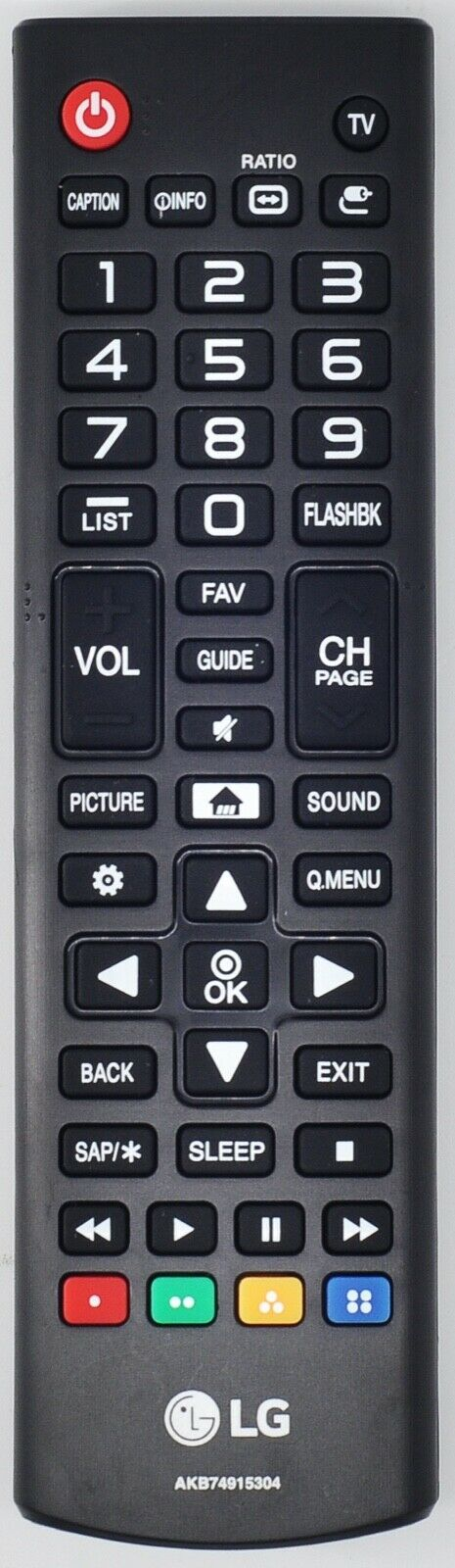 Original New OEM LG AKB74915304 Remote Control for LG 4K UHD Smart TVs