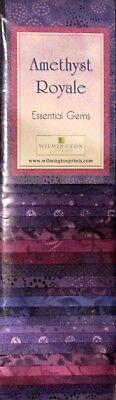 Jelly Roll Batik Purple Amethyst DYE LOT #3 Fabric Wilmington 24 Strips 2.5