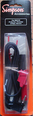 Simpson Meter Test Leads 00125 New Sealed Oem Set For The 228 229 260