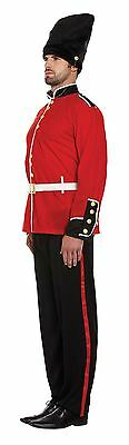 Adult Mens Red Royal Busby Buzby London Queen Guard Fancy Dress Costume New