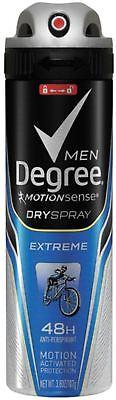 Degree Men Dry Spray Antiperspirant  Extreme 3 8 Oz  Pack Of 9